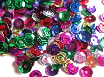 30g bag of 7mm Cup Sequins . Choice of Colour